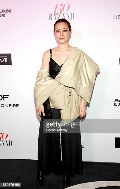China Chow attends Harper's BAZAAR celebration of the 150 Most Fashionable Women presented by TUMI in partnership with American Express La Perla and...