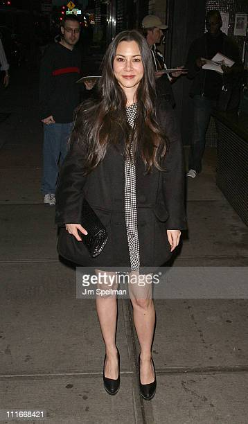 China Chow attends the Cinema Society with DeLeon Tequila and Moving Pictures Film Television screening of Henry's Crime at Landmark's Sunshine...