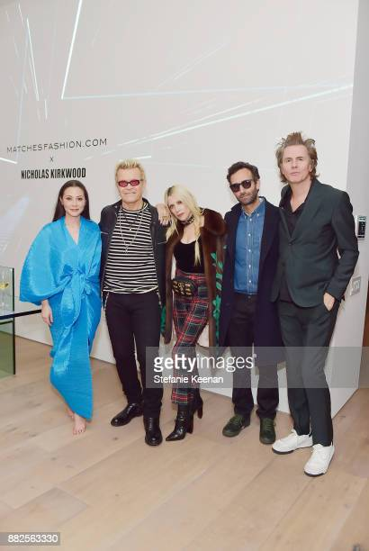 China Chow Billy Idol Gela NashTaylor Alex Israel and John Taylor attend Nicholas Kirkwood and China Chow Host A Dinner For Matches Fashion on...