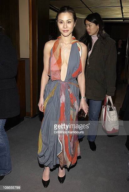 China Chow during Mercedes Benz Fashion Week Fall 2003 Collections Zac Posen Front Row at Four Seasons Restaurant in New York City New York United...