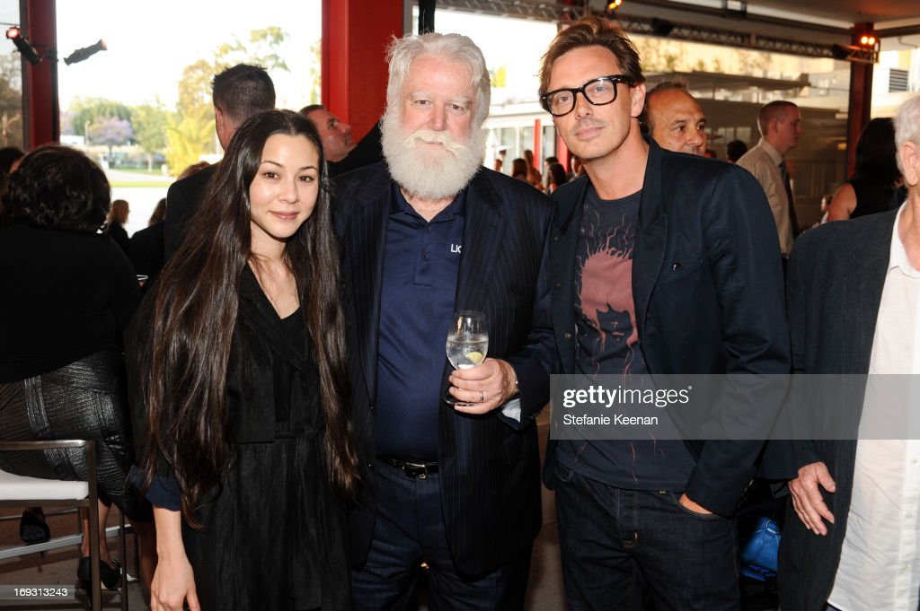 China Chow, James Turrell and Donovan Leitch attend LACMA Celebrates Opening Of James Turrell: A Retrospective at LACMA on May 22, 2013 in Los Angeles, California.