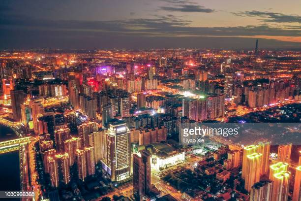 china cityscape, aerial view - liyao xie stock pictures, royalty-free photos & images