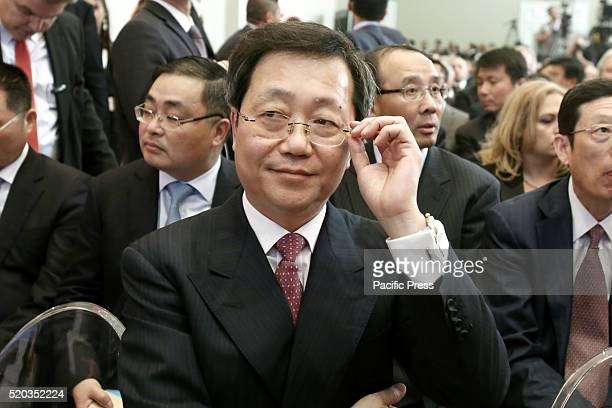 China COSCO chairman, Xu Lirong Xu Lirong during the presentation of the deal, at Zappeion Hall, after the signing of the agreement between TAIPED...