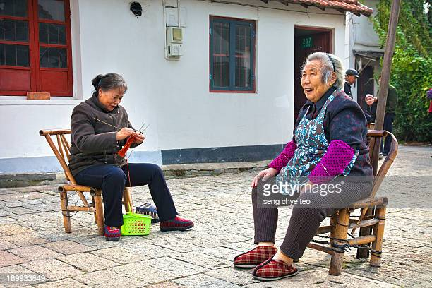 "China documentary photography about old folks living in the old town of Shanghai Zhujiajiao , is known as ""Shanghai's Venice"". It is the best..."