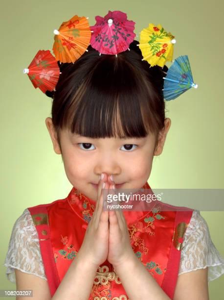 china doll - prayer pose greeting bildbanksfoton och bilder