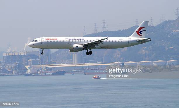 china eastern airbus a321 - east asia stock pictures, royalty-free photos & images