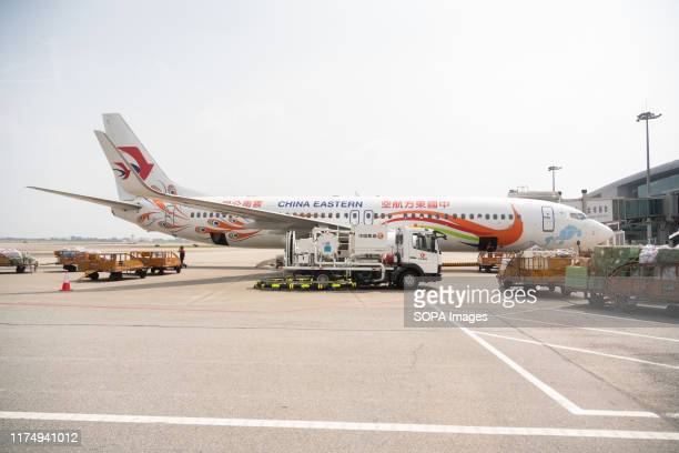 China Eastern Airlines Boeing 737-800 seen in Guangzhou Baiyun International Airport.