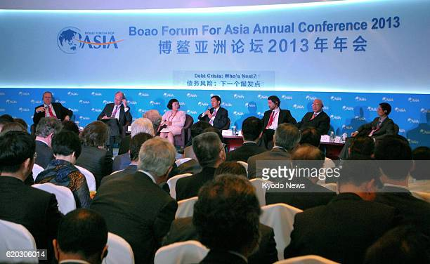 China - Economic experts hold discussions as an annual conference of the Boao Forum for Asia, a high-level brainstorming venue for leaders from...