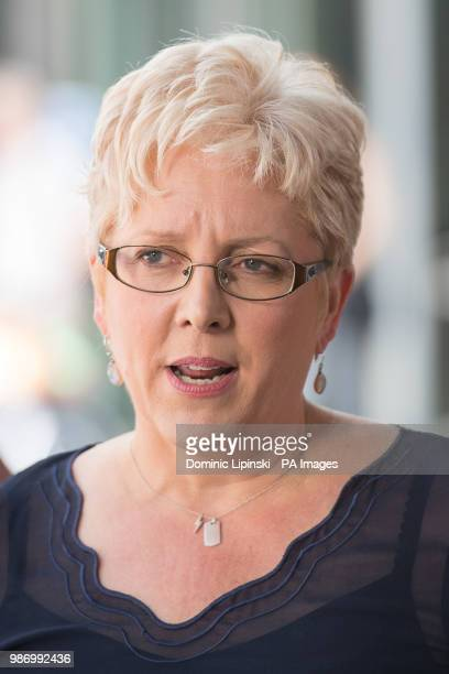 BBC China Editor Carrie Gracie speaks to the media outside BBC New Broadcasting House London after resolving her equalpay dispute with the BBC