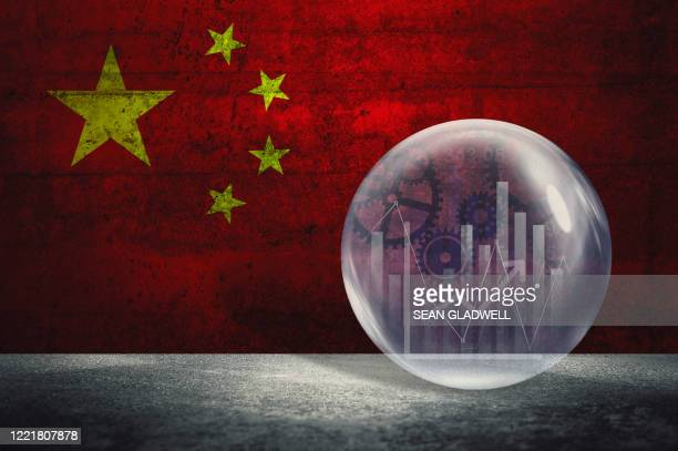 china financial bubble - china stock pictures, royalty-free photos & images