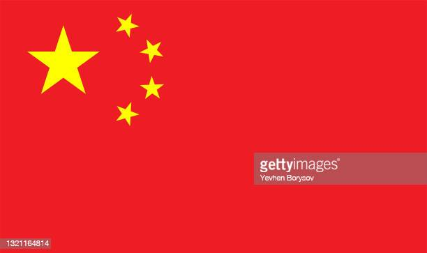 china flag simple illustration for independence day or election - chinese flag stock pictures, royalty-free photos & images