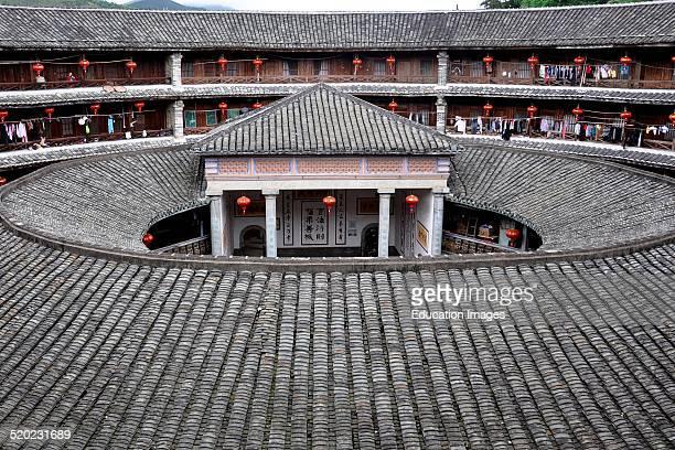 China Fujian Province Nanjin village Tulou house