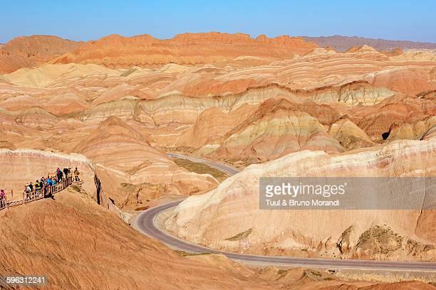 China, Gansu, colorful Danxia landform in Zhangye