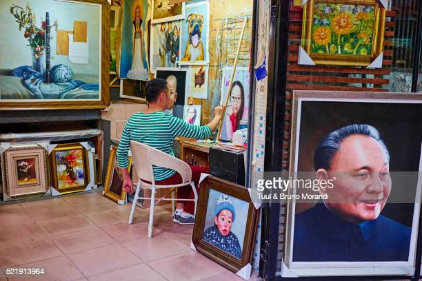 China, Guangdong, Dafen oil painting village