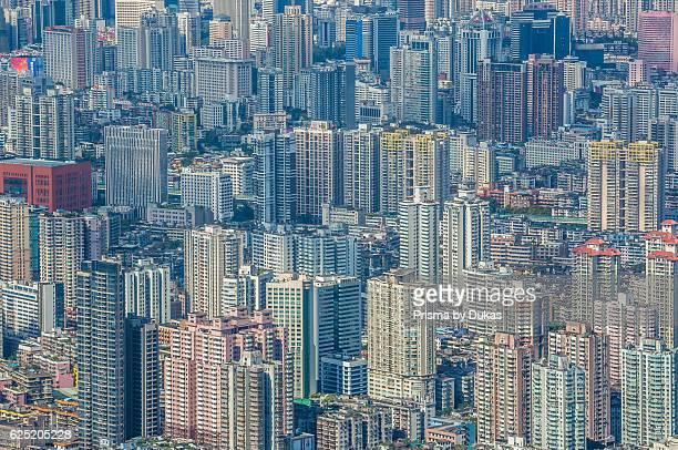 China, Guangdong Province, Guangzhou City, Central Guangzhou skyline.