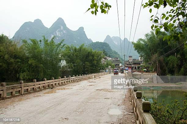 China, guangxi province, road in yangshuo