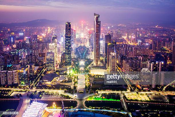 china guangzhou cityscape - guangzhou stock pictures, royalty-free photos & images