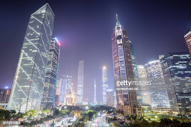china guangzhou skyline - guangzhou stock pictures, royalty-free photos & images