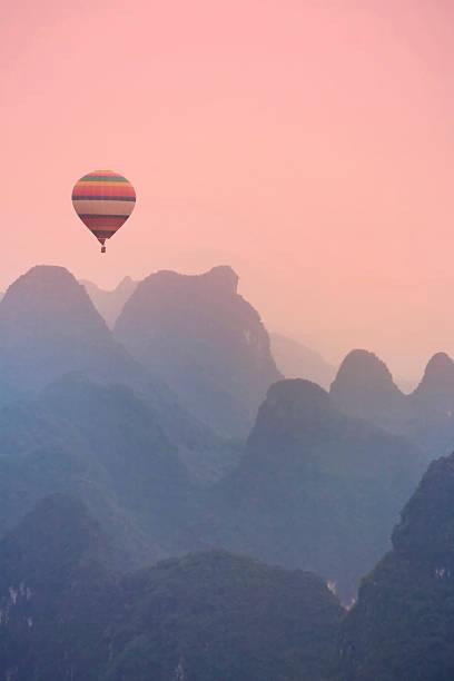 China, Guilin Karst Mountains Wall Art