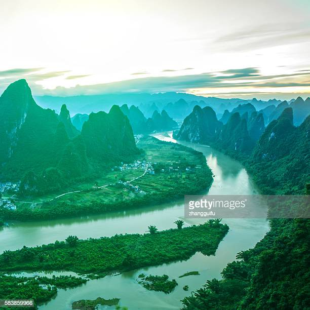 China Guilin Mountains landscape