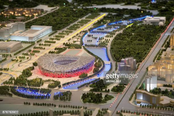 China Hebei Beijing Sommerolympiade 2008 beleuchtetes Modell des neuen Nationalstadions | Summer Olympics 2008 illuminated effect model of the new...