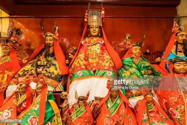 China Hong Kong Central Hollywood Road Man Mo Temple Statues of Taoist Gods