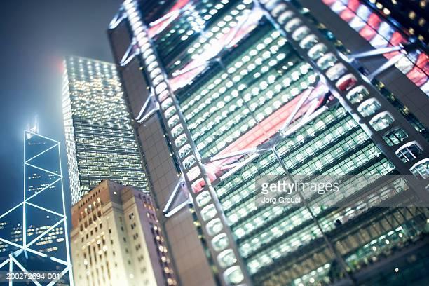 china, hong kong, cheung kong centre, bank of china tower - cheung kong centre stock pictures, royalty-free photos & images