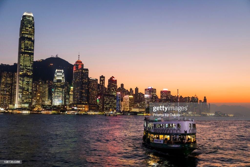 China, Hong Kong, City Skyline and Star Ferry : News Photo