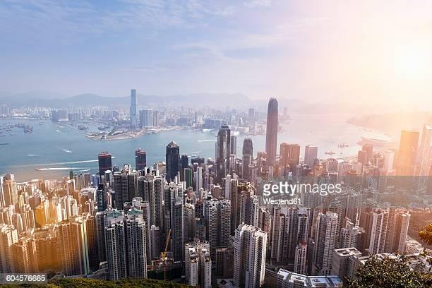 China, Hong Kong, Victoria Harbour and Kowloon