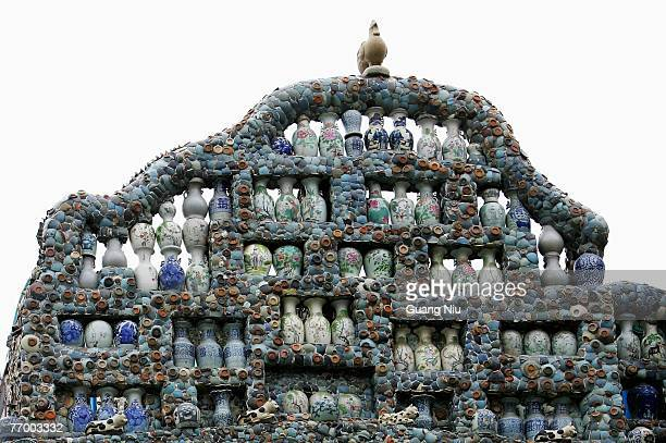 'China House' is pictured on September 25 2007 in Tianjin north China The landmark building clad with 400 million porcelain pieces 16 thousand pieces...