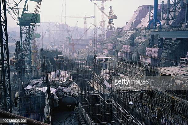 China, Hubei Province, construction site for the Three Gorges Dam