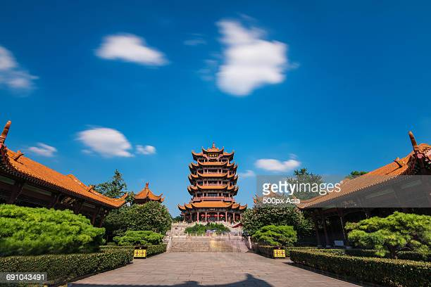 China, Hubei Province, Wuhan, Yellow Crane Tower, Yellow Crane Tower at sunny day