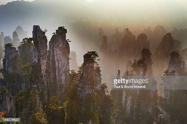 china, hunan province, wulingyuan scenic area - unesco world heritage site stock pictures, royalty-free photos & images