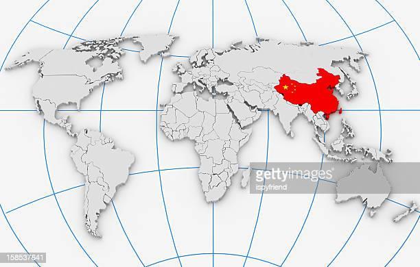 Chine dans la carte du monde