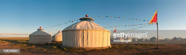 china inner mongolia yurts grasslands panorama - hohhot stock pictures, royalty-free photos & images