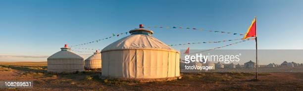 china mongólia interior tendas mongóis pastagens panorama - hohhot - fotografias e filmes do acervo