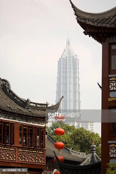 China, Jiangsu Province, Shanghai, Nanshi District and skyscraper