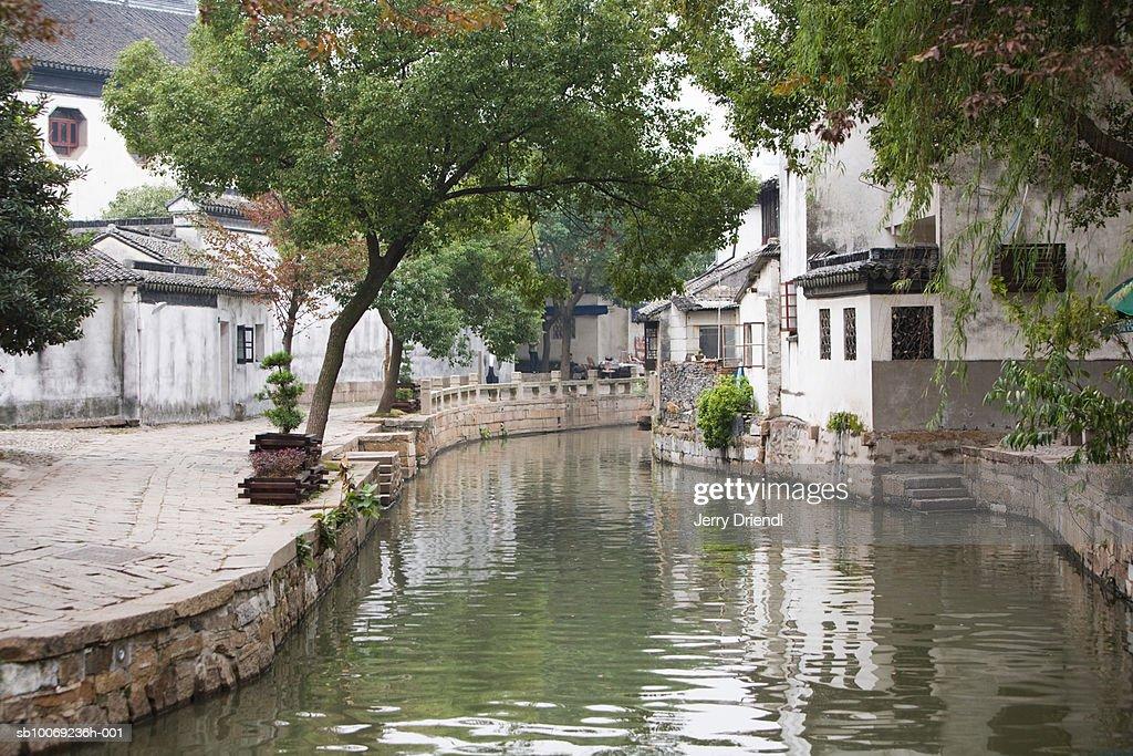 China, Jiangsu Province, Tong Li canal : Stockfoto
