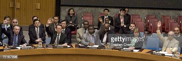 China joins other United Nations Security Council members in voting in favor of the resolution for sanctions against North Korea at the United...