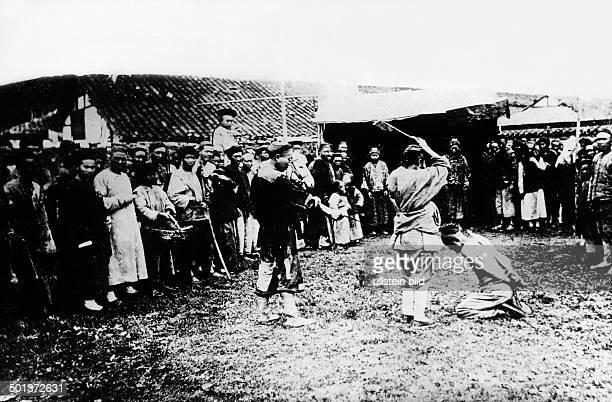 Chinese delinquent is decapitated in public undated probably around 1910