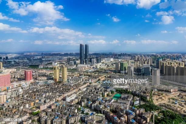 china, kunming, view to the city - provinz yunnan stock-fotos und bilder