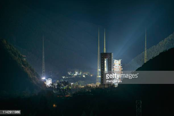 china launches chang 'e-5 lunar probe - chinese lunar exploration program stock pictures, royalty-free photos & images