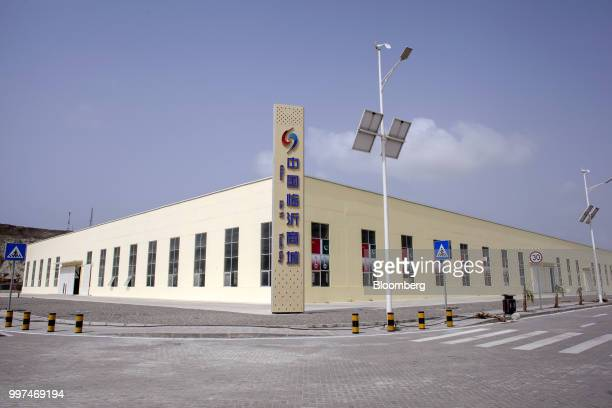 A China Linyi Trade City building stands in the Gwadar Free Zone operated by China Overseas Ports Holding Co in Gwadar Balochistan Pakistan on...