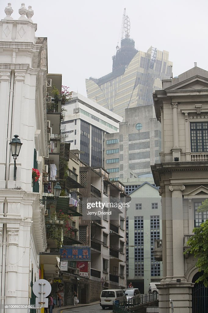 China, Macau Special Administrative Region, Street and buildings in downtown : Stockfoto