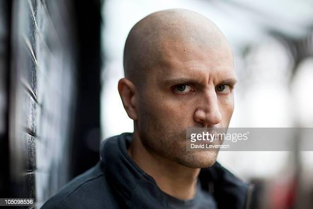 China Mieville author poses for a portrait at the Cheltenham Literature Festival on October 9 2010 in Cheltenham England