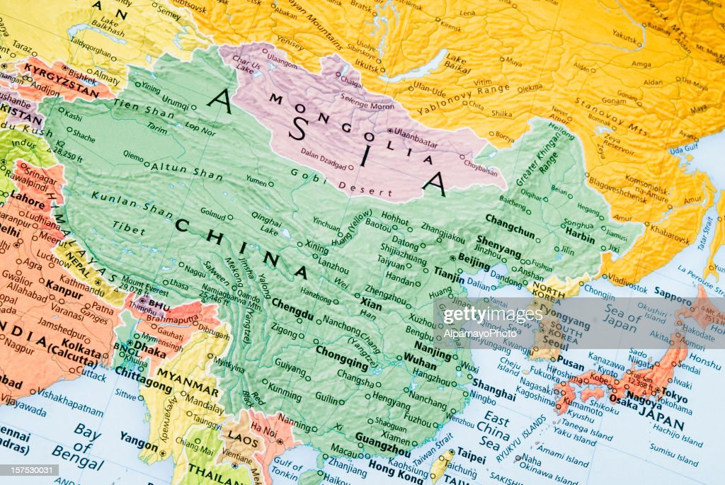 China mongolia and japan regional map stock photo getty images china mongolia and japan regional map stock photo gumiabroncs Gallery