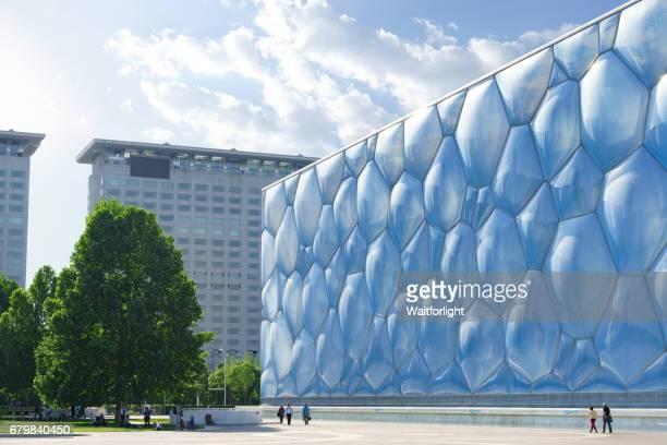 china national aquatic center - 国立オリンピック競技場 ストックフォトと画像