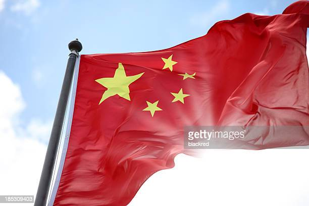 china national flag - chinese flag stock pictures, royalty-free photos & images