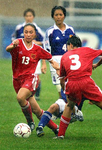 f157fb686 China national team member Qu Feifei (L) weaves th Pictures