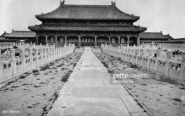China Peking Beijing Beijing Sixth court at the Forbidden City The Hall of Supreme Harmony Photographer Charles Rohr 1934Vintage property of ullstein...